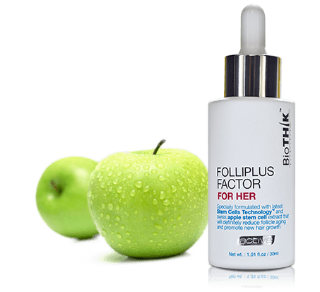 Swiss apple stem cells promote hair growth - Biothik Active Hair Serum